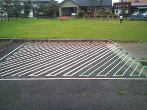 駐車場塗装工事